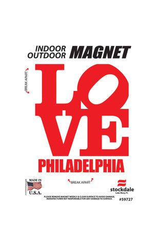 Love Philly Car Accessory Car Magnet