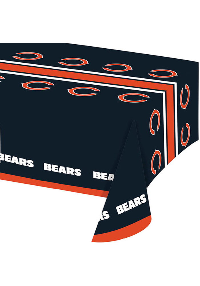 Chicago Bears 54x102 Plastic Tablecloth - Image 1