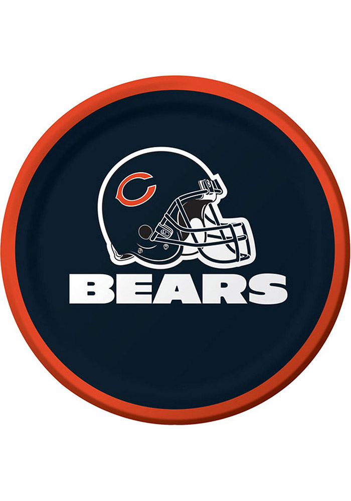 Chicago Bears 8 Pack 9 Inch Paper Plates - Image 1