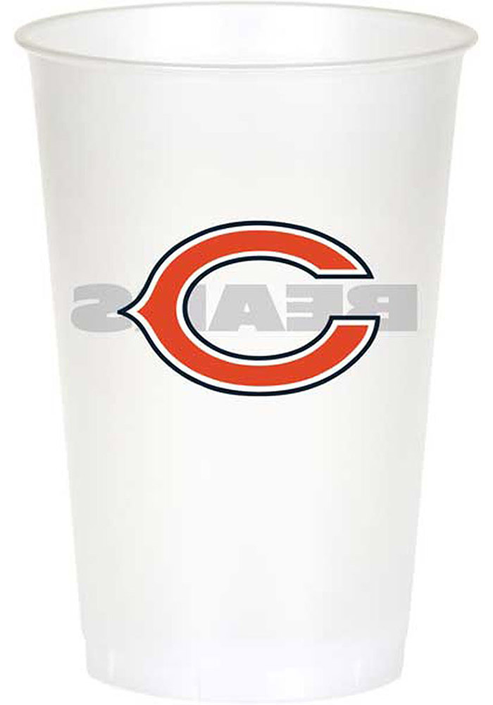 Chicago Bears 20 oz 8 Pack Disposable Cups - Image 1