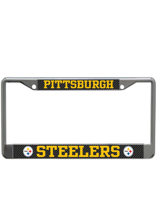 Pittsburgh Steelers Carbon Fiber License Frame