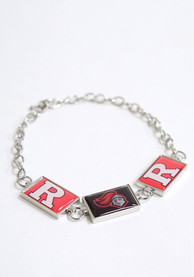 Rutgers Scarlet Knights Womens 3 Rectangle Charm Bracelet - Red