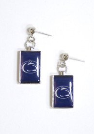 Penn State Nittany Lions Womens Rectangle Drop Earrings - Navy Blue