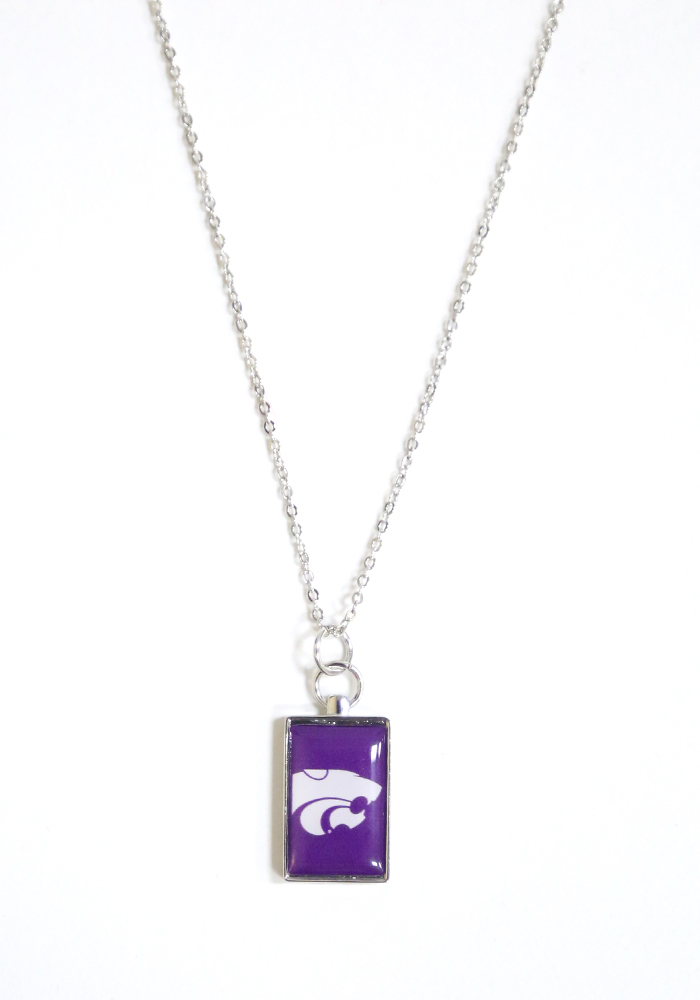K-State Wildcats Rectangle Charm Necklace - Image 1