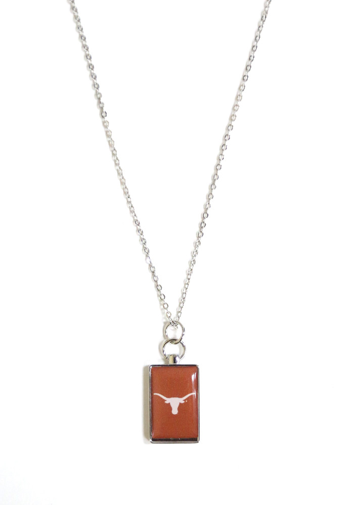 Texas Longhorns Rectangle Charm Necklace - Image 1