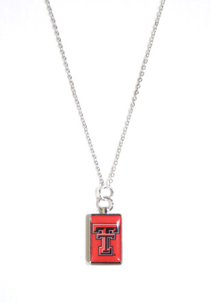 Texas Tech Red Raiders Rectangle Charm Necklace