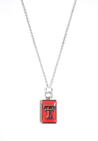 Texas Tech Red Raiders Womens Rectangle Charm Necklace - Red