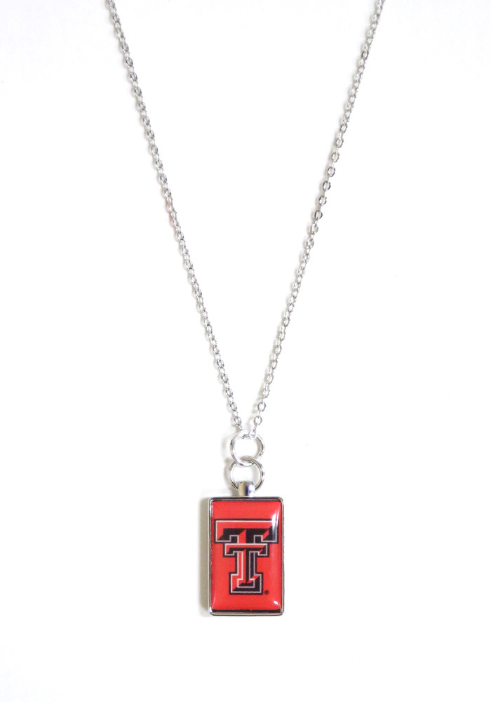 Texas Tech Red Raiders Rectangle Charm Necklace - Image 1