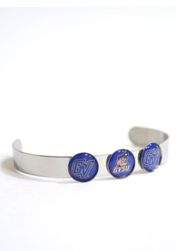 Grand Valley State Lakers Womens 3 Charm Bangle Bracelet - Blue