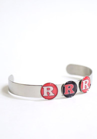Rutgers Scarlet Knights Womens 3 Charm Bangle Bracelet - Red
