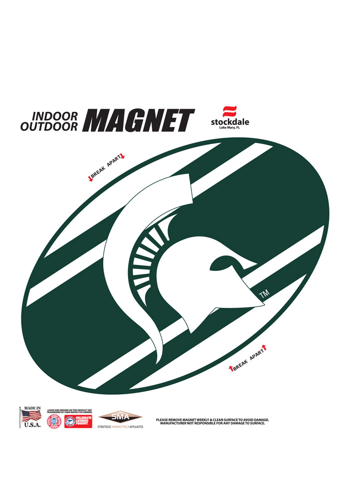 Michigan State Spartans Stripe Magnet - Image 1