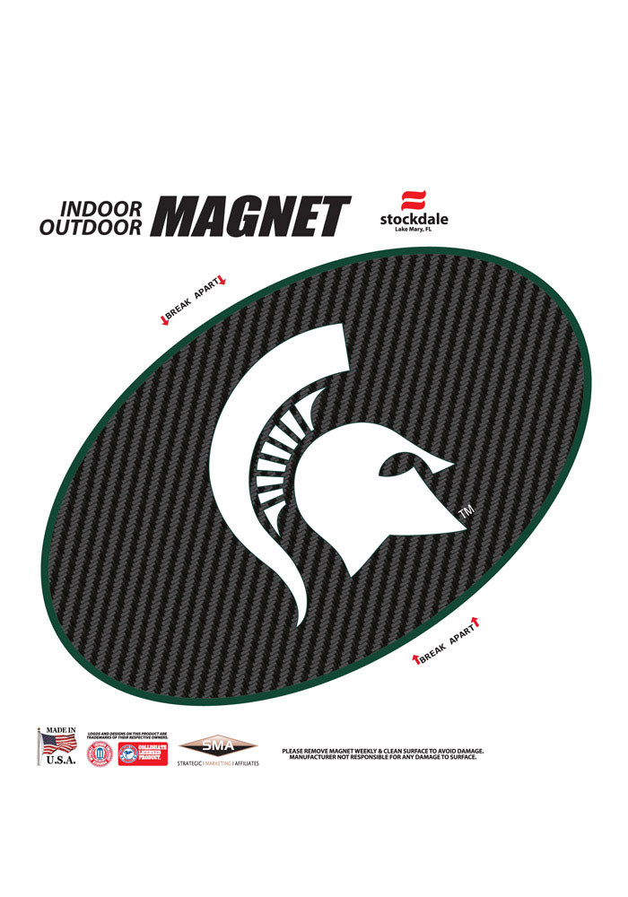 Michigan State Spartans Carbon Magnet - Image 1