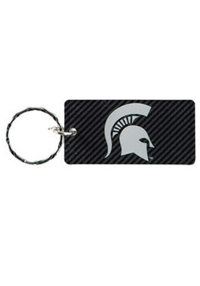 Michigan State Spartans Carbon Keychain - Image 1