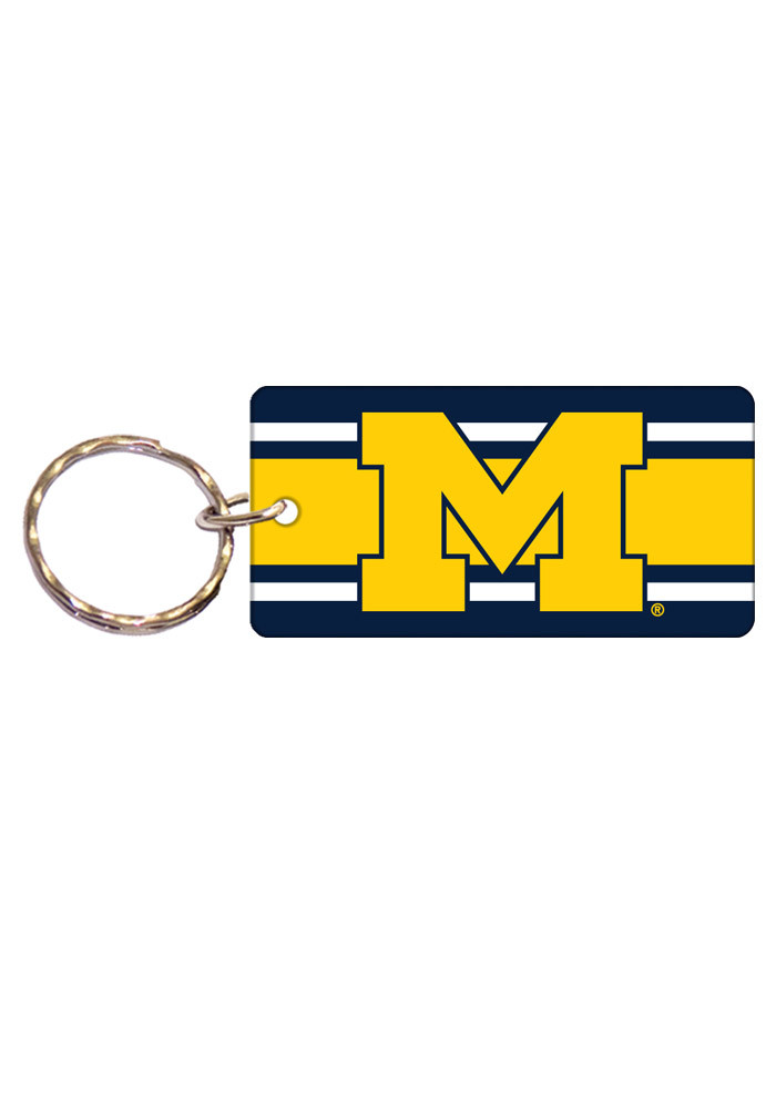 Michigan Wolverines Stripe Keychain - Image 1