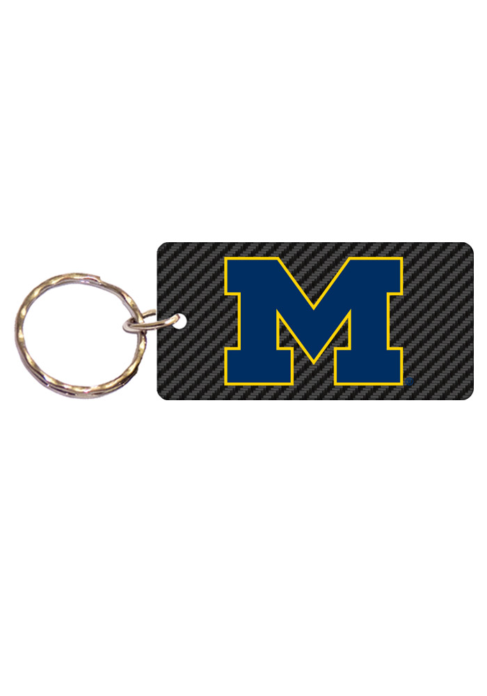 Michigan Wolverines Carbon Keychain - Image 1