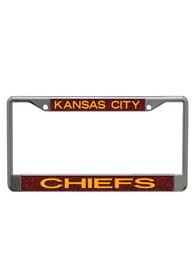Kansas City Chiefs Team Color Glitter License Frame