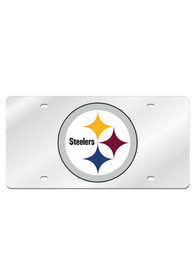 Pittsburgh Steelers Silver Arcylic Car Accessory License Plate