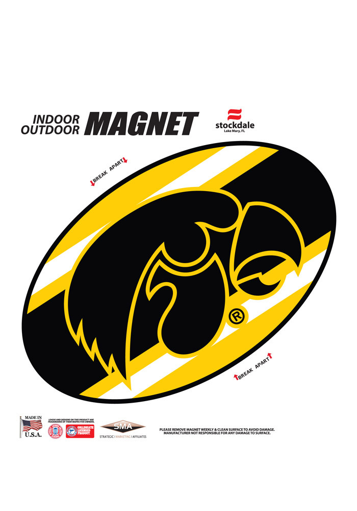 Iowa Hawkeyes Team Color Magnet - Image 1