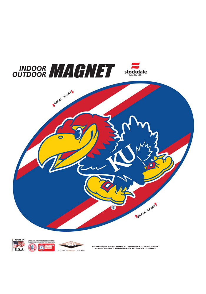 Kansas Jayhawks Team Color Magnet - Image 1