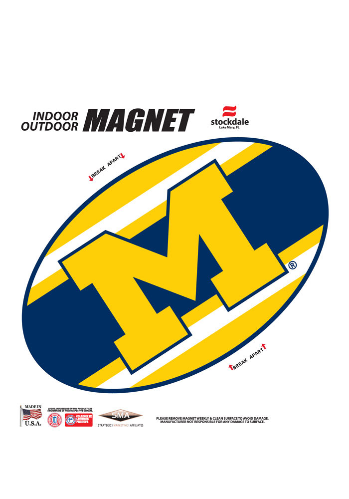 Michigan Wolverines Team Color Magnet - Image 1