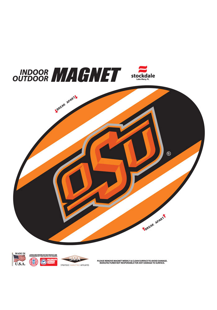 Oklahoma State Cowboys Team Color Magnet - Image 1