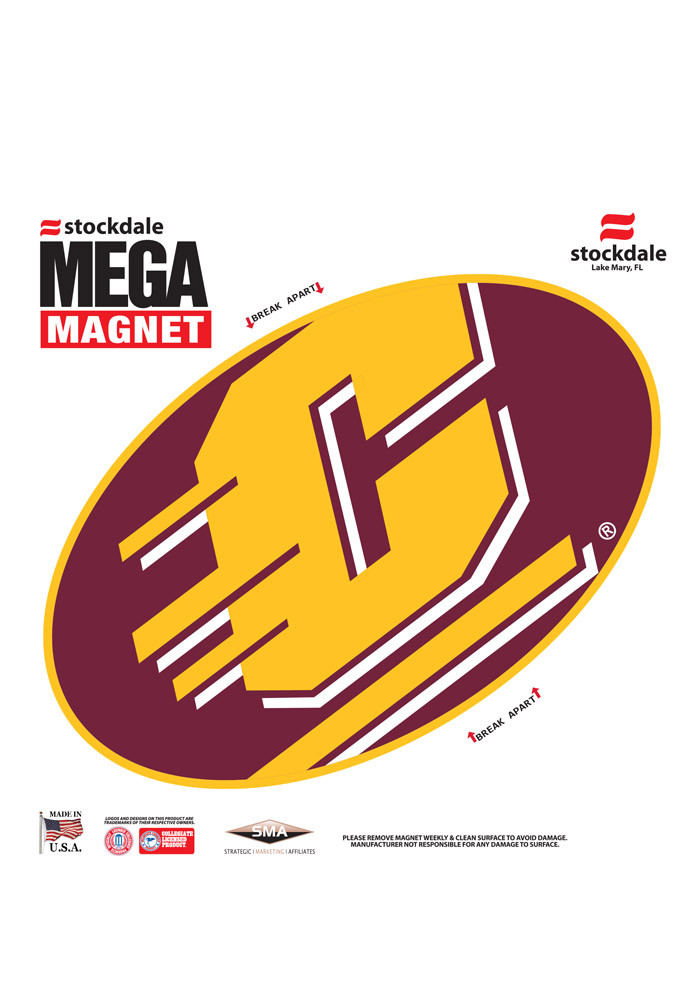 Central Michigan Chippewas Team Color Magnet - Image 1