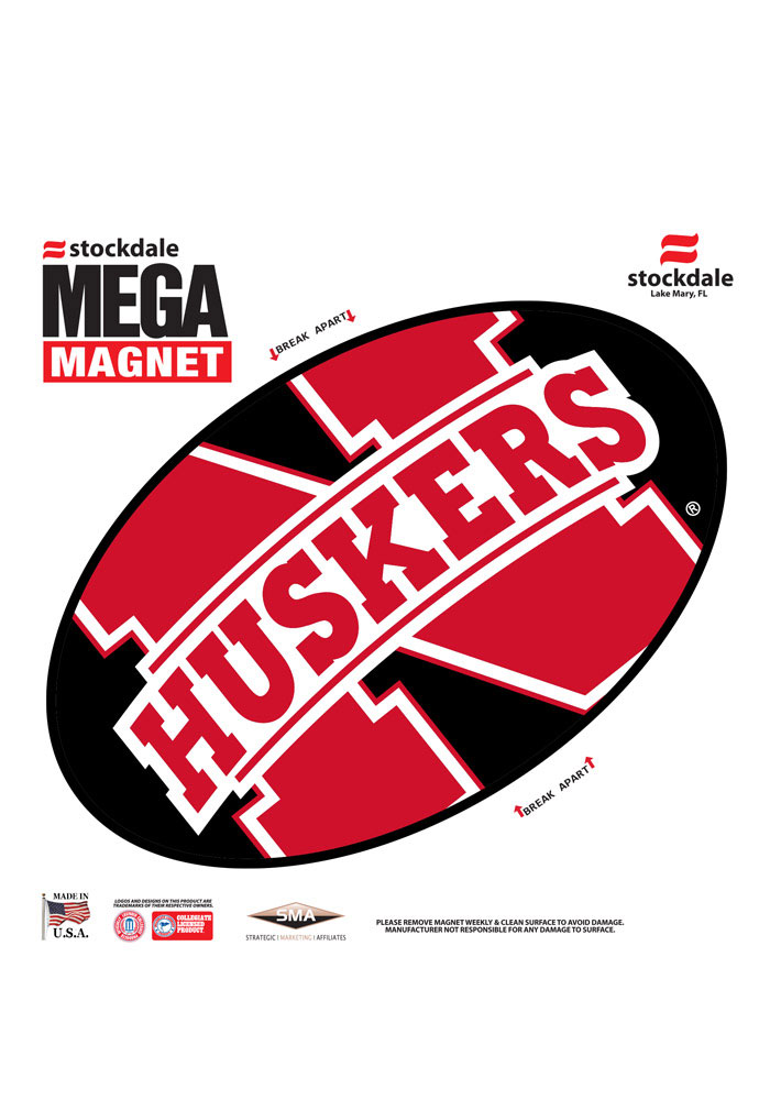 Nebraska Cornhuskers Team Color Magnet - Image 1