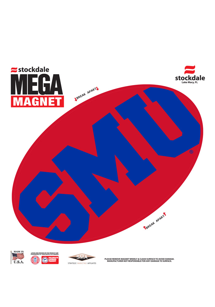 SMU Mustangs Team Color Magnet - Image 1