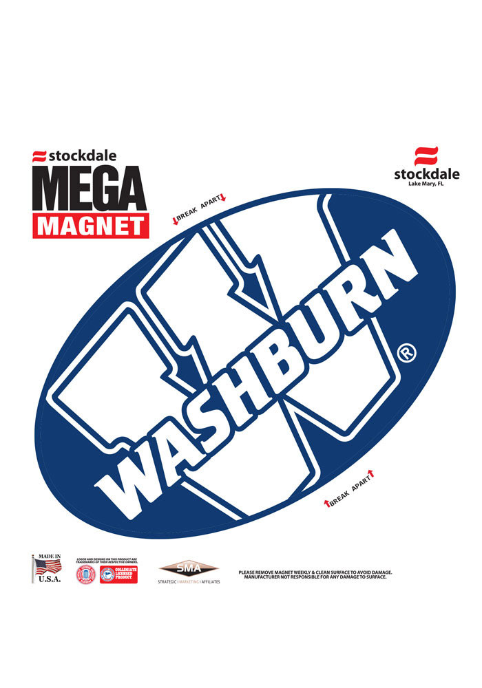 Washburn Ichabods Team Color Magnet - Image 1