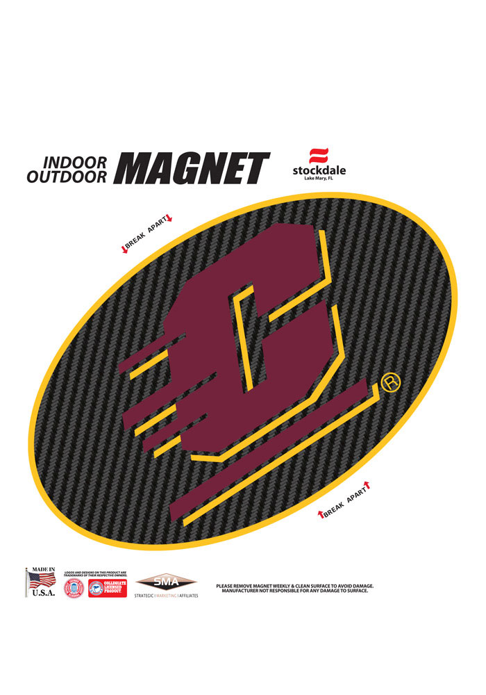 Central Michigan Chippewas Team Logo Magnet - Image 1