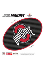 Ohio State Buckeyes 6 Inch Carbon Magnet