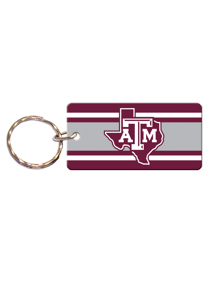 Texas A&M Aggies Stripe Keychain - Image 1