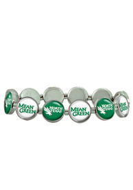 North Texas Mean Green Womens 12 Charm Stretch Bracelet - Green