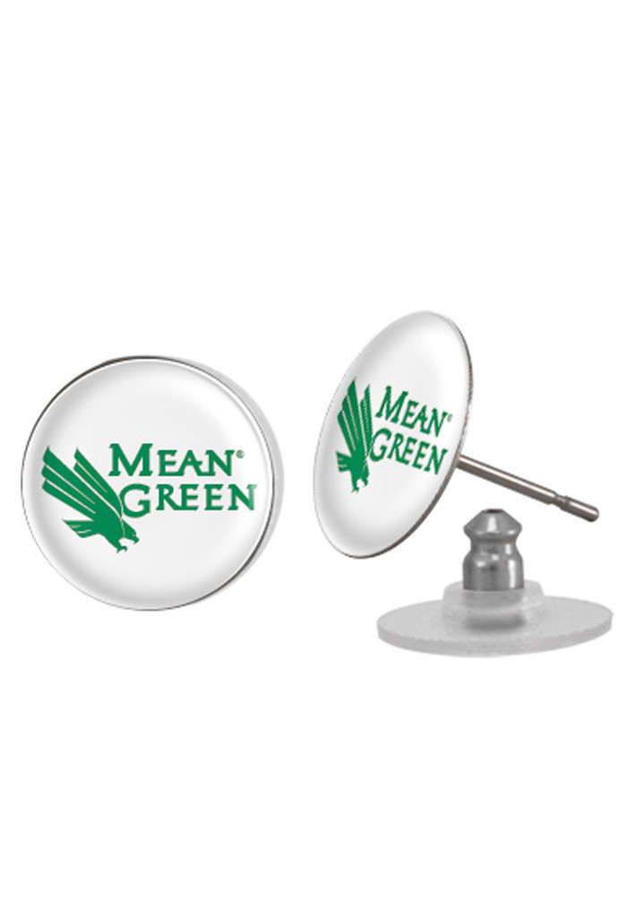 North Texas Mean Green Spirit Womens Earrings - Image 1