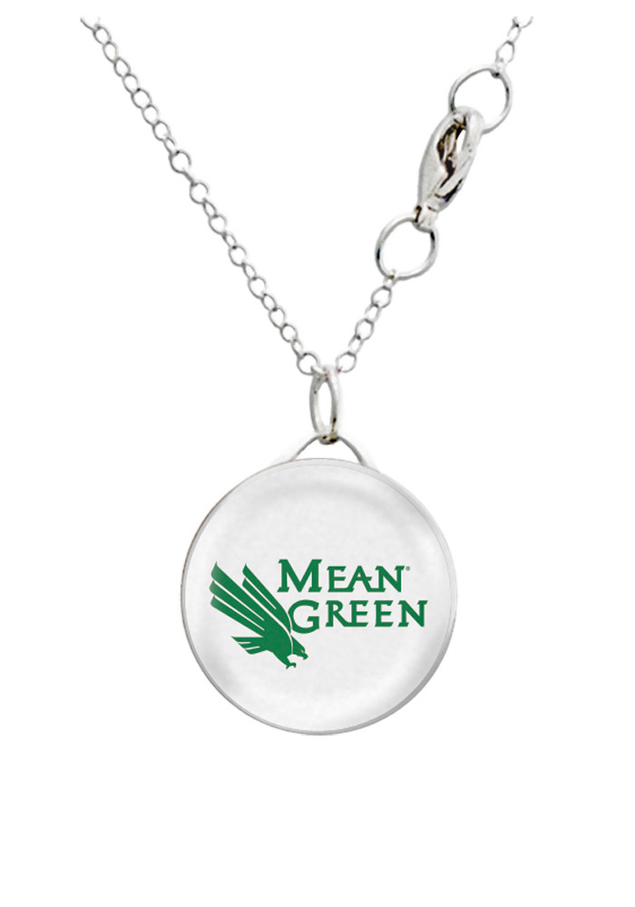 North Texas Mean Green Round Charm Necklace - Image 1