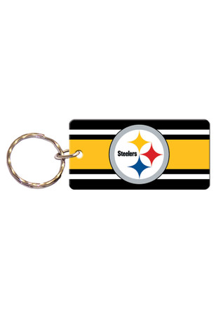 Pittsburgh Steelers Stripe Keychain