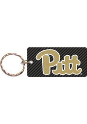 Pitt Panthers Carbon Keychain