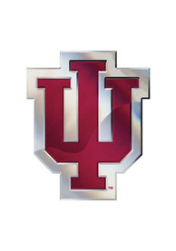 Indiana Hoosiers Chrome Car Emblem - Red
