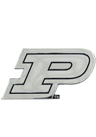 Purdue Boilermakers Chrome Car Emblem - Silver