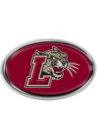 Lafayette College Domed Oval Car Emblem - Maroon