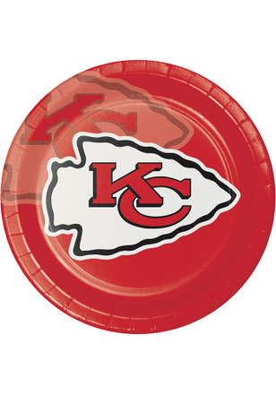 Kansas City Chiefs 8 Pack 9 Inch Paper Plates