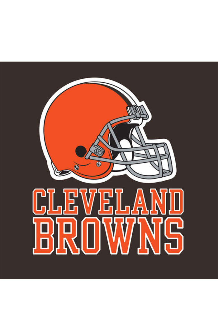 Cleveland Browns 20 Pack Luncheon Napkins - Image 1