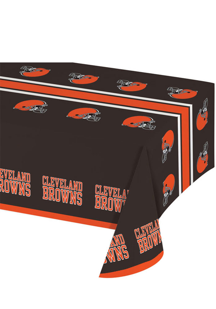 Cleveland Browns Plastic Tablecloth - Image 1