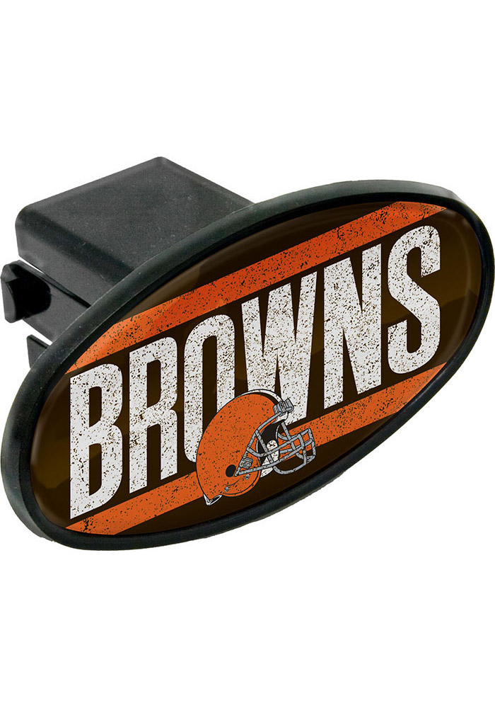 Cleveland Browns Oval Car Accessory Hitch Cover - Image 1