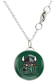 Cleveland State Vikings Womens Drop Necklace - Green