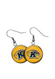 Kent State Golden Flashes Womens Single Drop Earrings - Silver