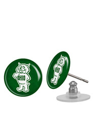 Ohio Bobcats Womens Spirit Earrings - Green