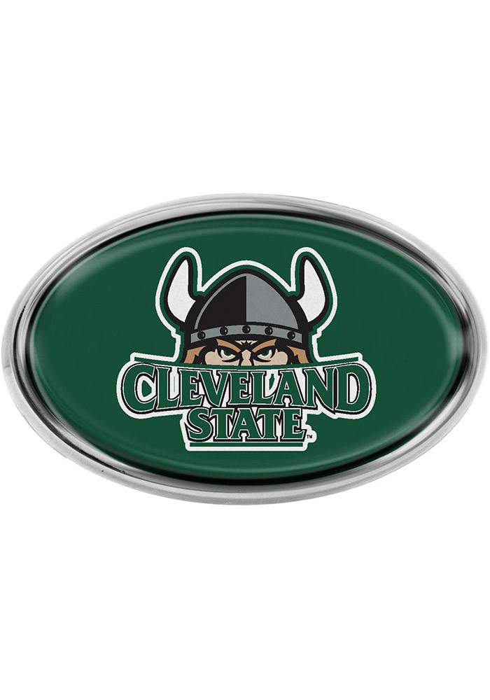 Cleveland State Vikings Oval Car Accessory Car Emblem - Image 1