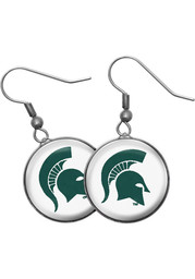 Michigan State Spartans Single Drop Womens Earrings