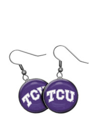 TCU Horned Frogs Womens Single Drop Earrings - Purple